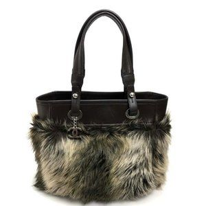 CHANEL Paris Biarritz Fur and Leather Tote Bag MM
